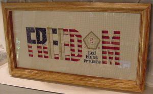 Freedom 9-11 framed